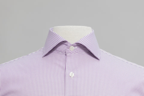 Smyth & Gibson S.W.E. Non-Iron Gingham Check Contemporary Fit Shirt in Purple - Smyth & Gibson Shirts