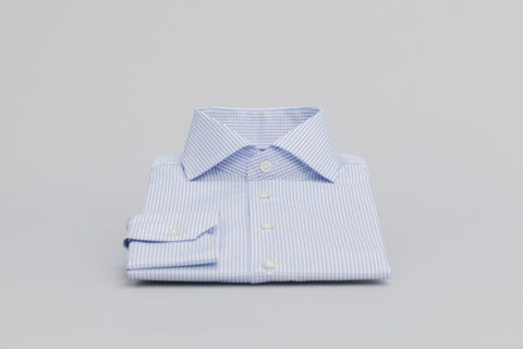 Smyth & Gibson S.W.E. Non-Iron Gingham Check Contemporary Fit Shirt in Sky Blue