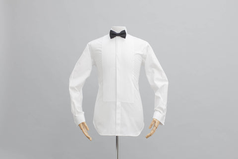 Smyth & Gibson Olivier Pleat Dinner Shirt In White - Smyth & Gibson Shirts
