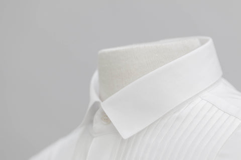 Smyth & Gibson Olivier Pleat Dinner Shirt In White
