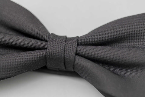 Smyth and Gibson Ready-Tied Satin Bow Tie In Black