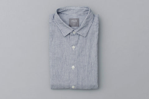 Smyth and Gibson Japanese Vintage Bengal Oxford Selvedge In Navy - Smyth & Gibson Shirts