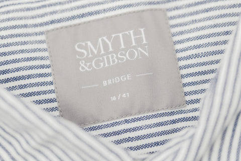 Smyth and Gibson Japanese Vintage Bengal Oxford Selvedge In Navy