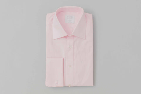 Smyth and Gibson Twill Tailored Fit Shirt In Pink - Smyth & Gibson Shirts