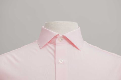 Smyth & Gibson 120 Thread Count Micro Gingham Check Tailored Fit Shirt in Pink - Smyth & Gibson Shirts