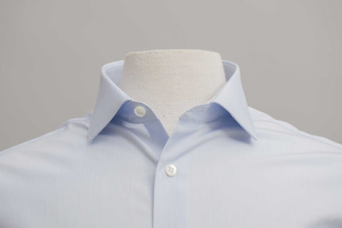 Smyth and Gibson 120 Thread Count Fine Stripe Tailored Fit shirt in Sky Blue
