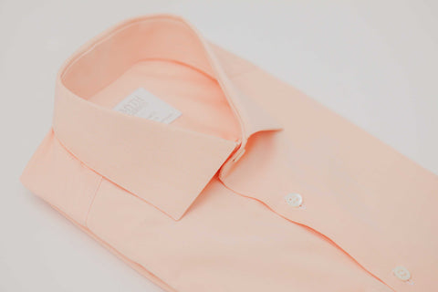 Smyth and Gibson 120 Thread Count Micro Gingham Check Tailored Fit Shirt in Orange