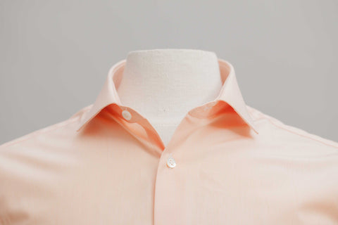 Smyth & Gibson 120 Thread Count Micro Gingham Check Tailored Fit Shirt in Orange - Smyth & Gibson Shirts