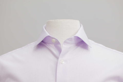Smyth & Gibson 120 Thread Count Micro Gingham Tailored Fit Shirt in Lilac - Smyth & Gibson Shirts