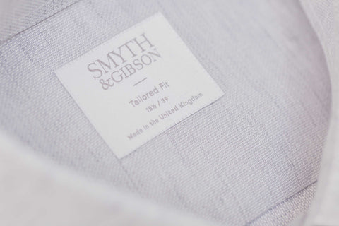 Smyth and Gibson Linen Cotton Weave Tailored Fit Shirt in Pebble Grey