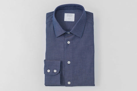 Smyth and Gibson Panama Weave Indigo Dyed Denim Tailored Fit Shirt - Smyth & Gibson Shirts
