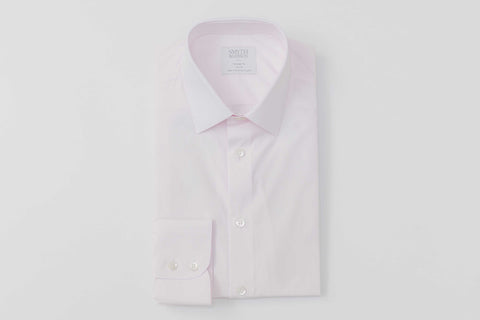 Smyth & Gibson Piumino Twill Tailored Fit Shirt in Pastel Pink