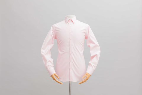 Smyth and Gibson Piumino Twill Tailored Fit Shirt in Pastel Pink