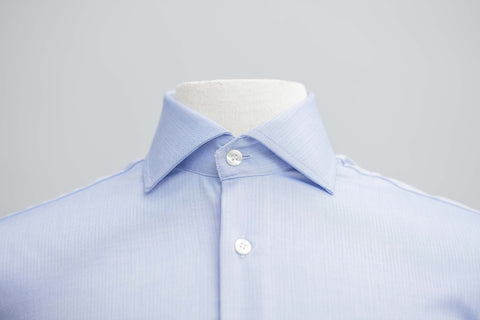 Smyth & Gibson S.W.E. Non-Iron Micro Herringbone Contemporary Fit Shirt in Blue - Smyth & Gibson Shirts