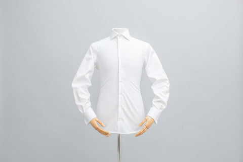 Smyth & Gibson Non Iron Plain Twill Slim Fit Single Cuff in White