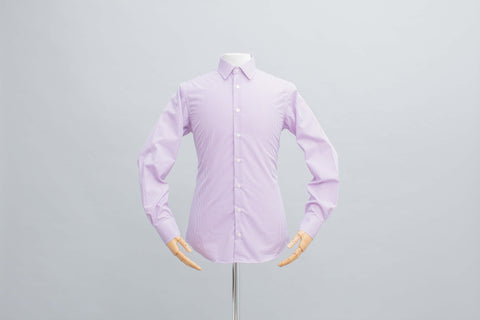 Smyth & Gibson S.W.E. Non Iron Gingham Check Slim Fit Shirt in Purple