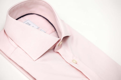 Smyth & Gibson S.W.E. Non-Iron Plain Poplin Double Cuff Slim Fit Shirt in Pink
