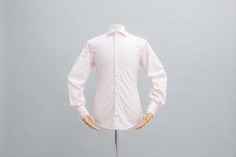 Smyth & Gibson Non-Iron Pink Poplin Double Cuff Contemporary Fit Shirt in Pink