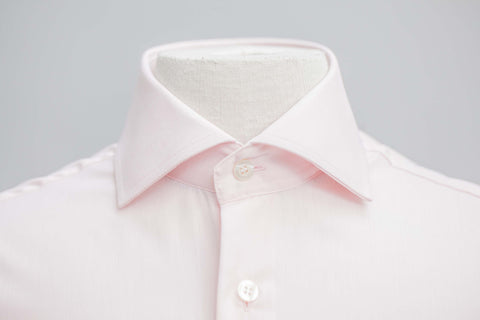 Smyth & Gibson Non-Iron Pink Poplin Double Cuff Contemporary Fit Shirt in Pink - Smyth & Gibson Shirts
