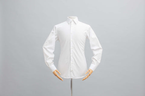 Smyth and Gibson Mens Non-Iron White Poplin Slim Fit 100% Cotton Shirt