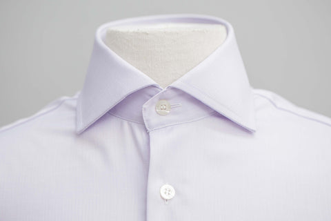 Smyth & Gibson S.W.E. Non-Iron Micro Herringbone Twill Contemporary Fit Shirt in Lilac - Smyth & Gibson Shirts