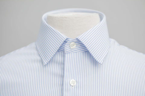 Smyth & Gibson S.W.E. Non-Iron Bengal Stripe Slim Fit Shirt in Blue - Smyth & Gibson Shirts