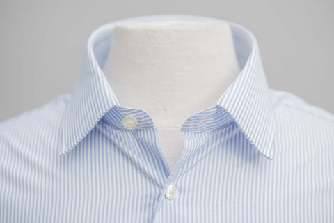 Smyth & Gibson S.W.E. Non-Iron Bengal Stripe Slim Fit Shirt in Blue