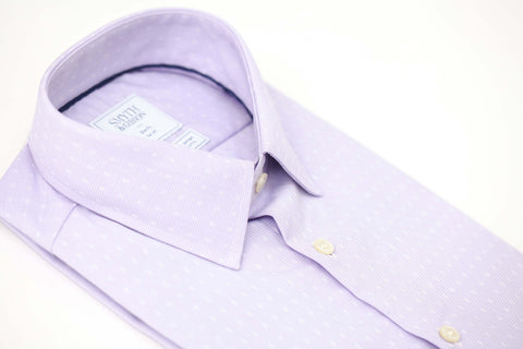 Smyth & Gibson S.W.E. Non-Iron Micro Houndstooth Dobby Shirt in Lilac