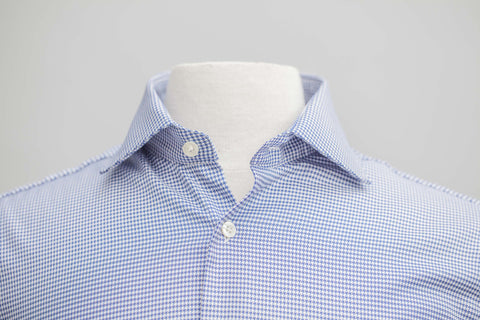 Smyth & Gibson S.W.E. Non-Iron Houndstooth Twill Contemporary Fit Shirt in Navy