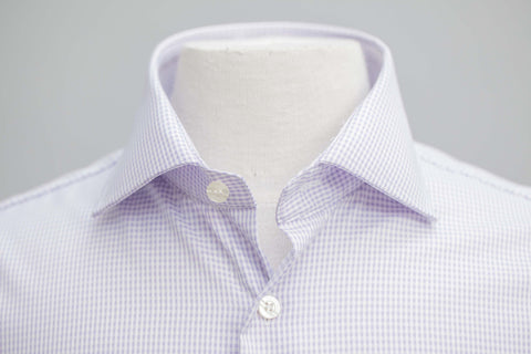 Smyth & Gibson S.W.E. Non-Iron Twisted Gingham Check Shirt in Lilac - Smyth & Gibson Shirts
