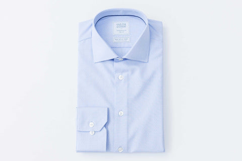 Smyth and Gibson Non Iron End on End Dobby Contemporary Fit Shirt in Sky Blue