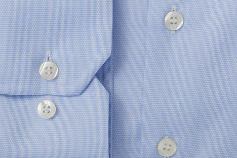 Smyth & Gibson S.W.E. Non Iron Pique Slim Fit Shirt in Sky Blue