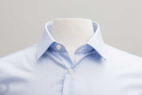 Smyth & Gibson S.W.E. Non Iron Pique Slim Fit Shirt in Sky Blue - Smyth & Gibson Shirts