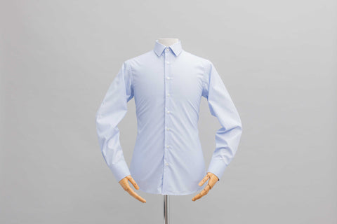 Smyth & Gibson S.W.E. Non Iron End on End Dobby Slim Fit Shirt in Sky Blue