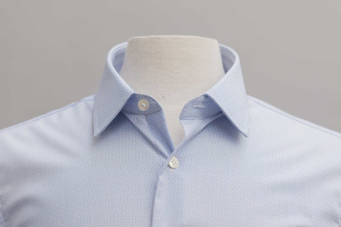 Smyth & Gibson S.W.E. Non Iron Pique Dashes Stripe Slim Fit Shirt in Sky Blue - Smyth & Gibson Shirts