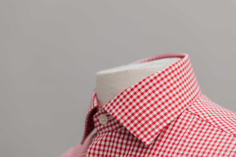 Smyth and Gibson Non Iron Gingham Dobby Contemporary Fit Shirt in Red