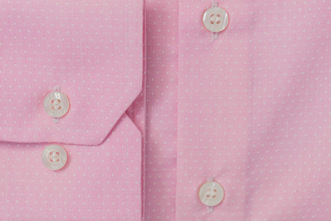 Smyth & Gibson S.W.E. Non Iron End on End Dobby Slim Fit Shirt in Pink