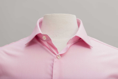 SMYTH & GIBSON S.W.E. NON IRON END ON END DOBBY CONTEMPORARY FIT SHIRT IN PINK - Smyth & Gibson Shirts