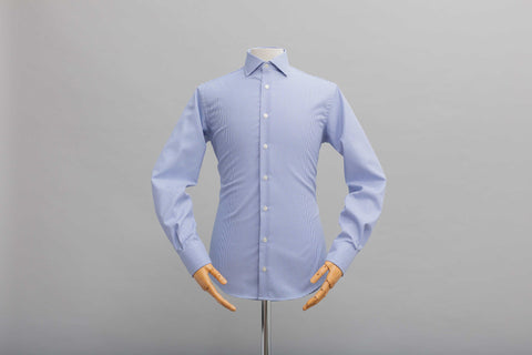 Smyth & Gibson S.W.E. Non Iron Twisted Gingham Contemporary Fit Shirt in Blue