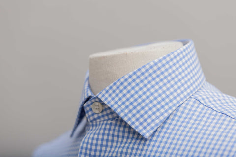 Smyth & Gibson Non Iron Gingham Dobby Contemporary Fit Shirt in Sky Blue - Smyth & Gibson Shirts