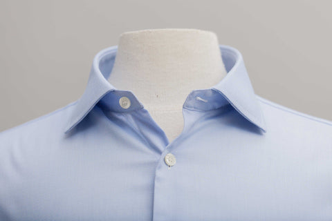 Smyth and Gibson Non Iron Pique Slim Fit Shirt in Sky Blue