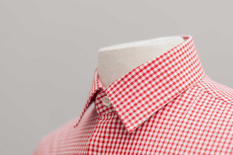 Smyth & Gibson S.W.E. Non Iron Gingham Dobby Slim Fit Shirt in Red