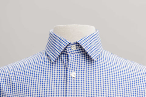 Smyth & Gibson S.W.E. Non-Iron Gingham Check Dobby Slim Fit Shirt in Navy