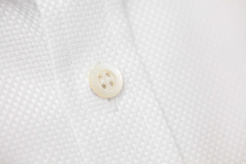 Smyth and Gibson Woven Texture Panama tailored Fit Shirt in White