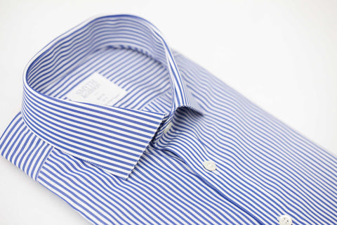 Smyth and Gibson Bengal Twill Slim Fit Shirt in Navy