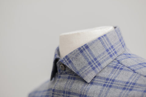 Smyth & Gibson Brushed Check Tailored Fit in Grey & Navy