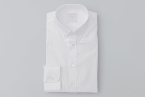 Smyth & Gibson Oxford Button Down Slim Fit Shirt in White - Smyth & Gibson Shirts