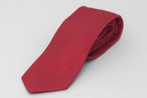 Smyth And Gibson Red Grenadine Silk Tie - Smyth & Gibson Shirts