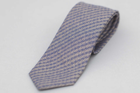 Smyth and Gibson Textured Lambswool Tie In Blue - Smyth & Gibson Shirts