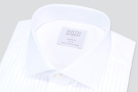 Smyth & Gibson Florida Plisse Evening Tailored Fit Shirt in White - Smyth & Gibson Shirts